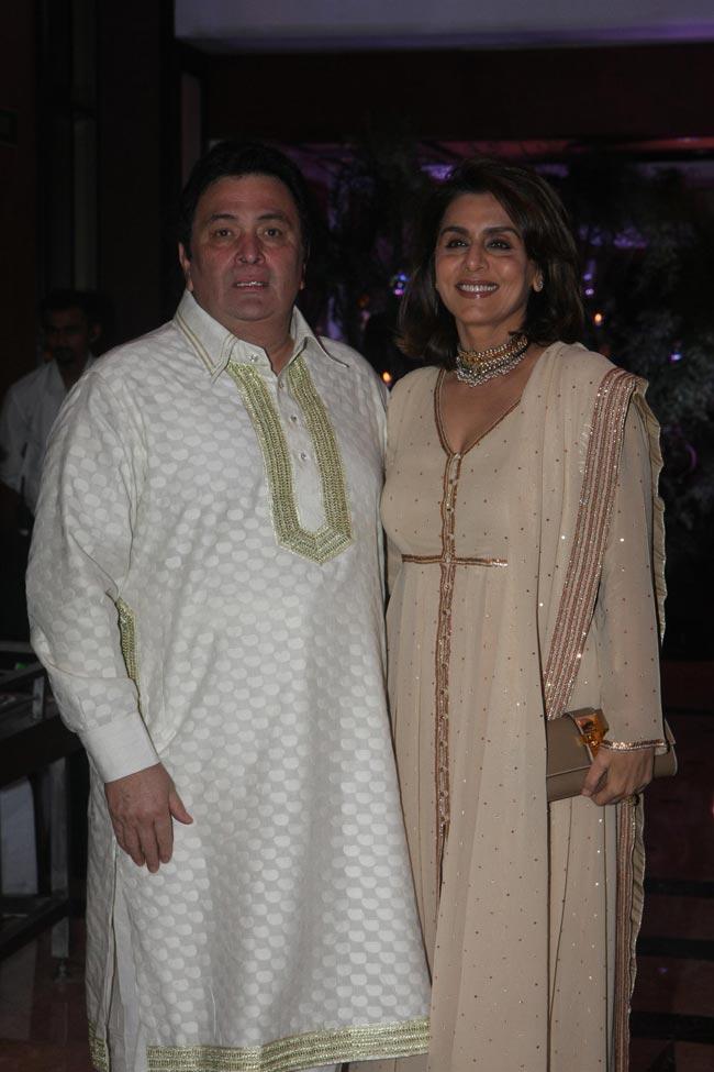 Rishi Kapoor with wife Neetu Singh