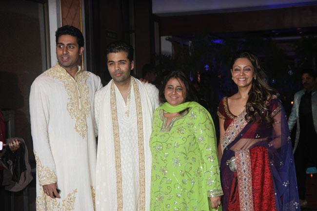 Abhishek Bachchan, Karan Johar, Gauri Khan