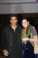 Sunil Shetty with wife Mana