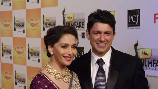 Madhuri Dixit with Husband Dr Shriram Madhav Nene