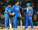 Indian cricketers Suresh Raina (L) and I