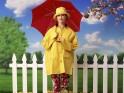 Umbrellas and raincoats:
