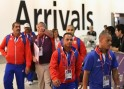 Athletes Arrive At Heathrow From Around The World For The London 2012 Olympic Games