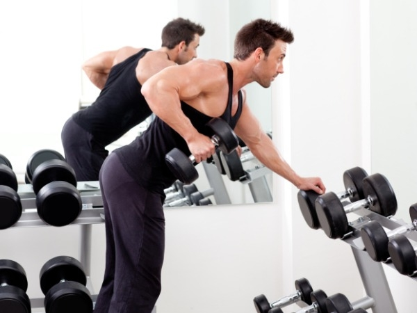 Bent over rows: