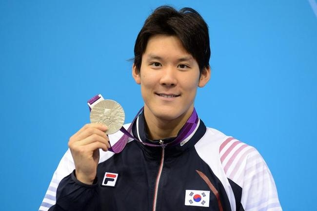 South Korean Park Tae-Hwan poses on the