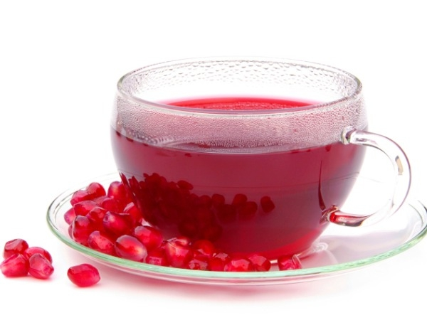 Healing effect of pomegranate juice