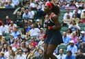Serena Williams of the US celebrates aft