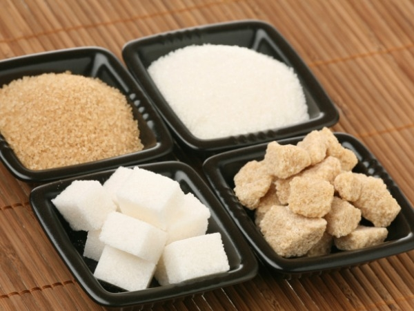 Different kinds of sugar: