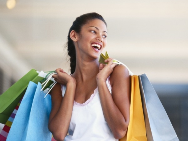 Shopping sprees are stress-free