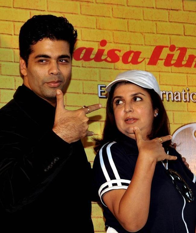 Karan Johar and Farah Khan