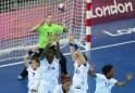French handball players make a save on t