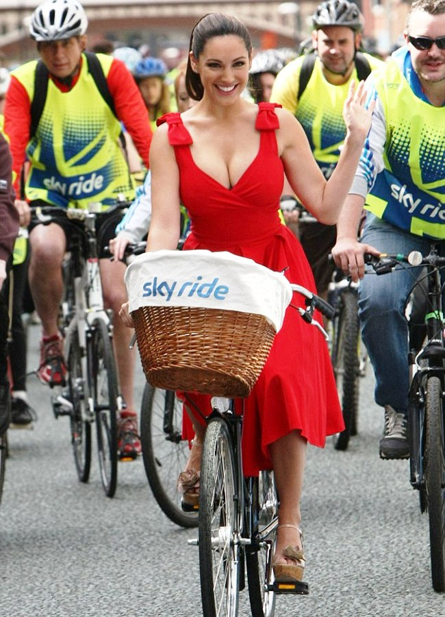 Kelly Brook promotes Sky Ride Manchester.