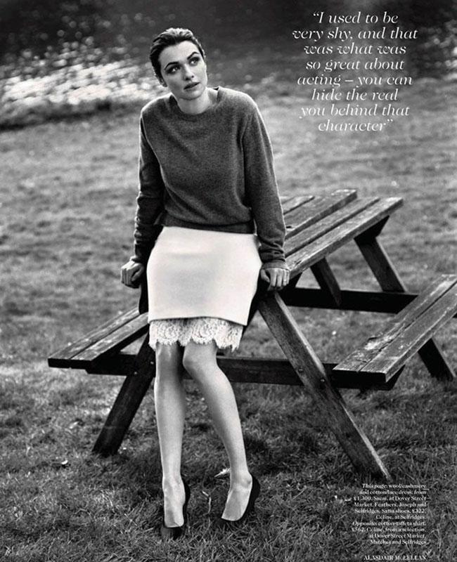 English actress Rachel Weisz for Vogue - July 2012