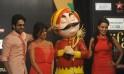 Bollywood actresses Neha Dhupiya (R), Ch