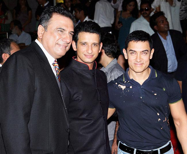 Boman Irani, Sharman Joshi and Aamir Khan
