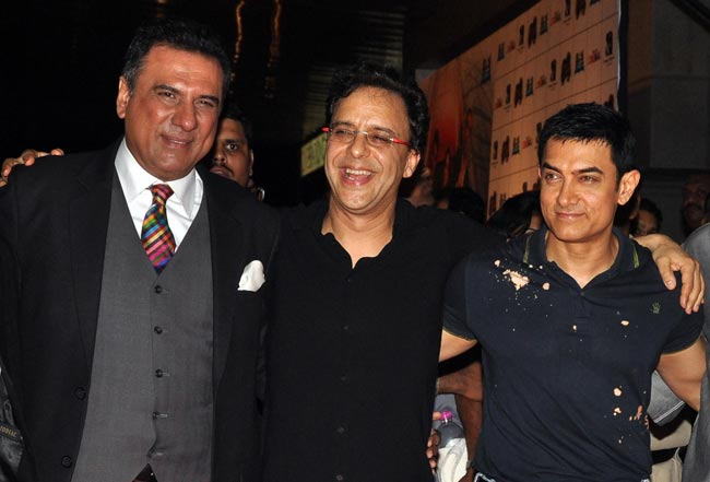 Boman Irani, Vidhu Vinod Chopra and Aamir Khan