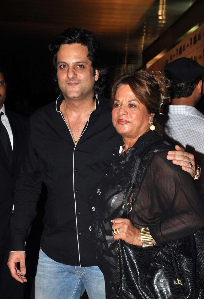 Fardeen Khan with his mother