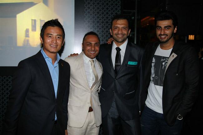 Bhaichung Bhutia, Rahul Bose, Atul Kasbekar and Arjun Kapoor