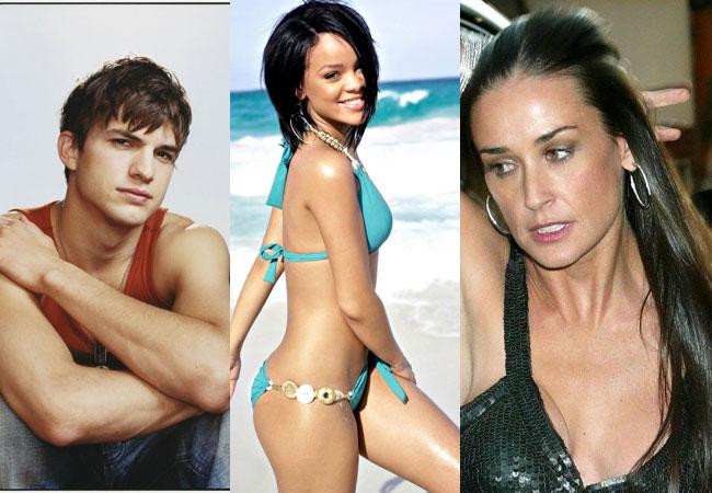 Kutcher-Rihanna romance upsets Moore
