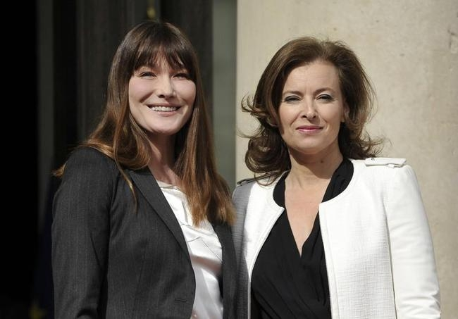 French outgoing First Lady Carla Bruni (