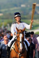 Zara Philips carries Olympic torch
