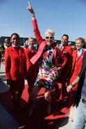 Life Ball Plane From NY Arrives To Vienna