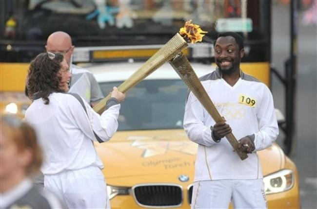 Olympic flame in Britain