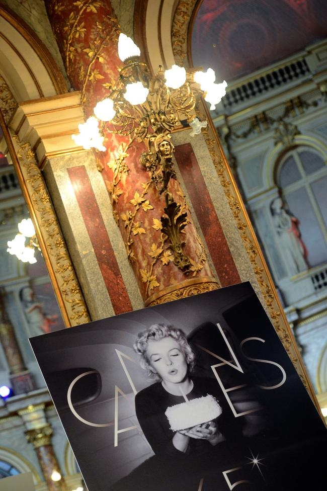 The official poster of the 65th Cannes film festival featuring Marilyn Monroe (file photo)