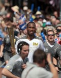Drogba carries Olympic flame
