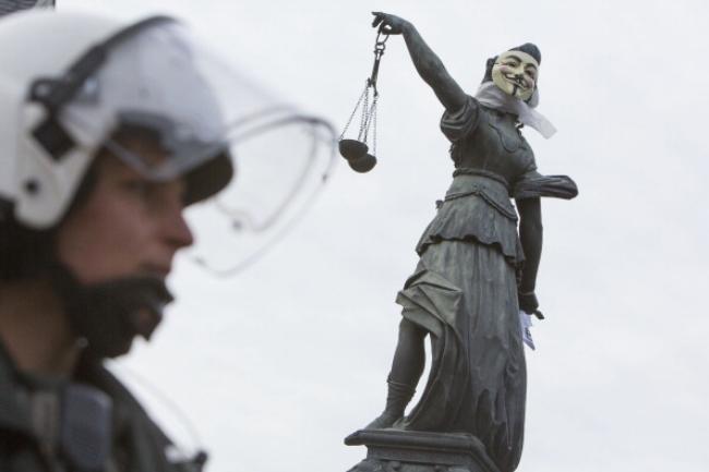 Blockupy Activists Protest In Frankfurt