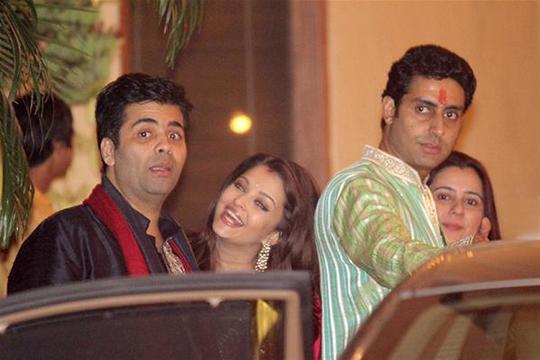 Karan Johar, Aishwarya and Abhishek Bachchan