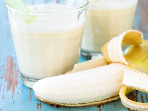 Natural Peanut Butter and Banana Smoothie