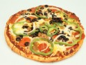 Three-Pepper Pizza