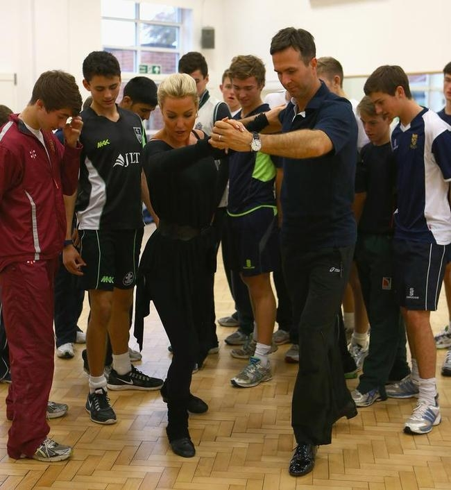 Michael Vaughan Takes Up Dancing