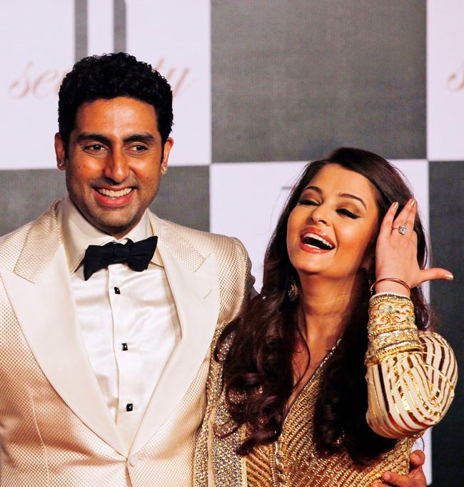 Abhishek Bachchan with wife Aishwarya Rai