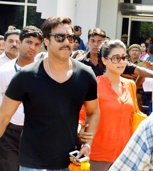 Ajay Devgn and his wife Kajol