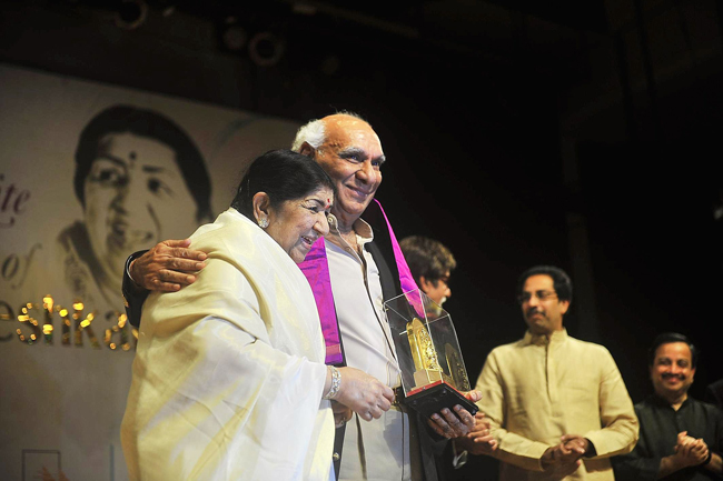 Yash Chopra with Lata Mangeshkar