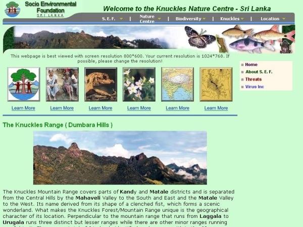 Knuckles Mountain Range or Dumbara Hills: