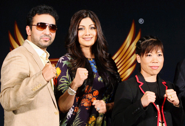 Shilpa Shetty, Raj Kundra and Mary Kom