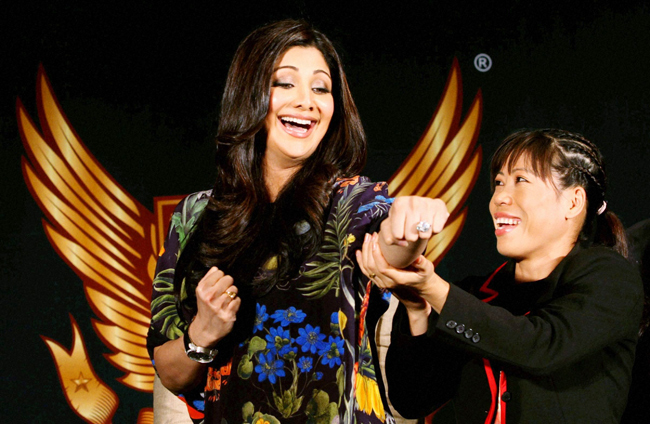 Shilpa Shetty and Mary Kom