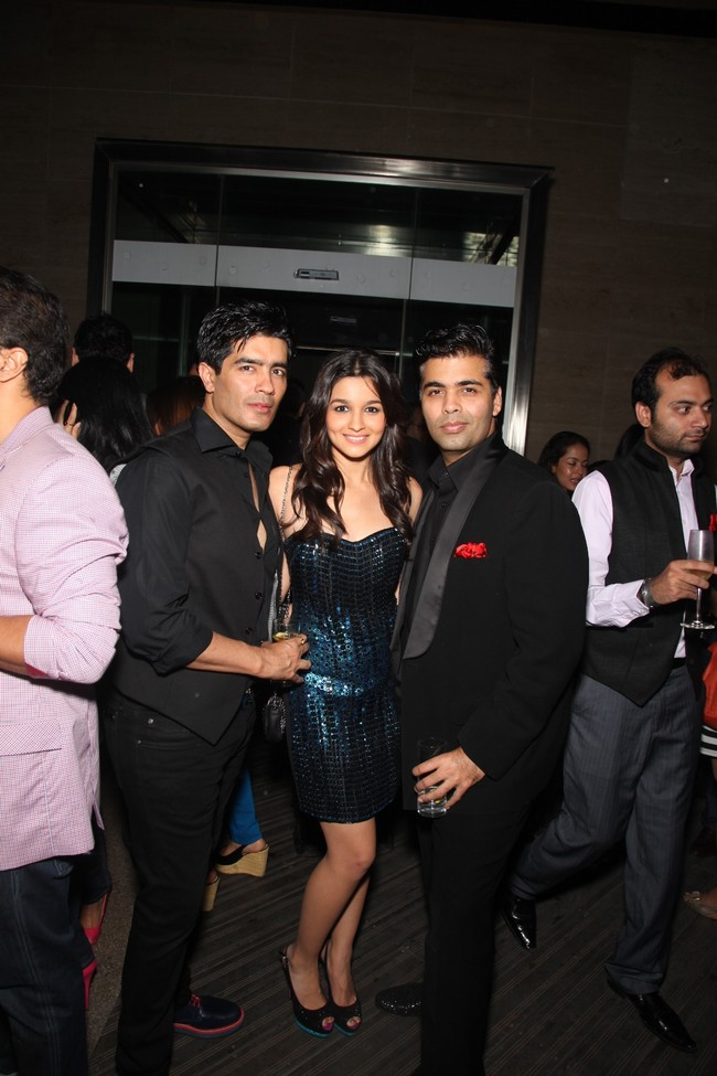 Manish Malhotra, Alia Bhatt and Karan Johar