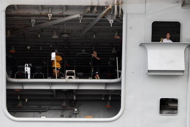 Gym on Board US Aircraft Carriers