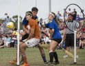 Wizards and Witches Play Quidditch World Cup