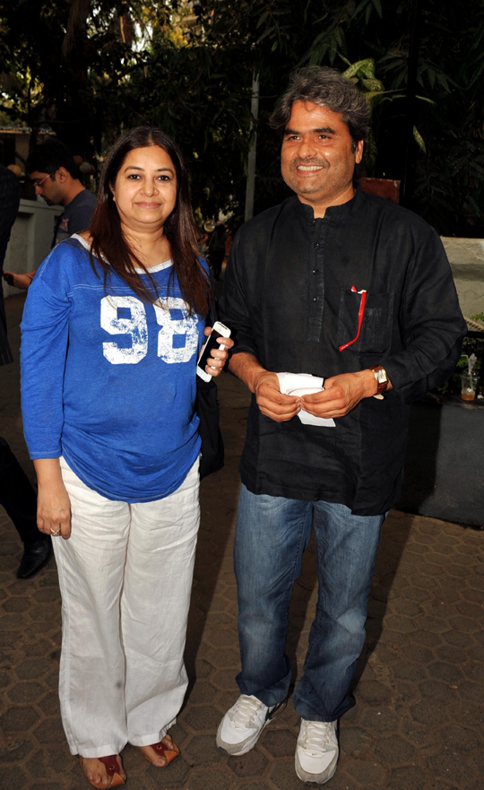 Vishal Bhardwaj and his wife Rekha Bhardwaj