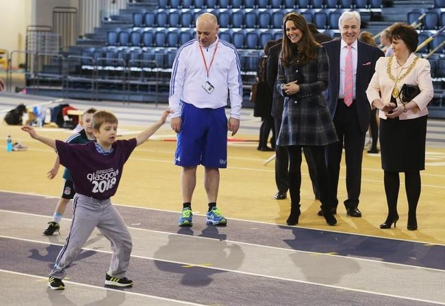 Catherine Visits 2014 Glasgow CWG Venue