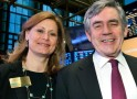 Former British Prime Minister Gordon Brown and his wife Sarah Brown
