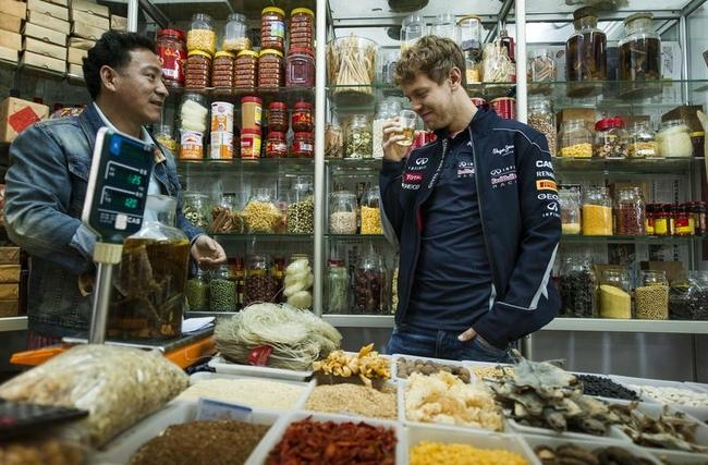 Sebastian Vettel in China