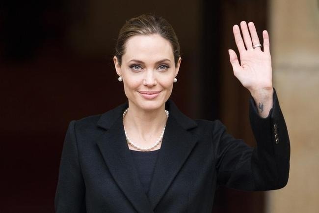US actress and humanitarian campaigner Angelina Jolie