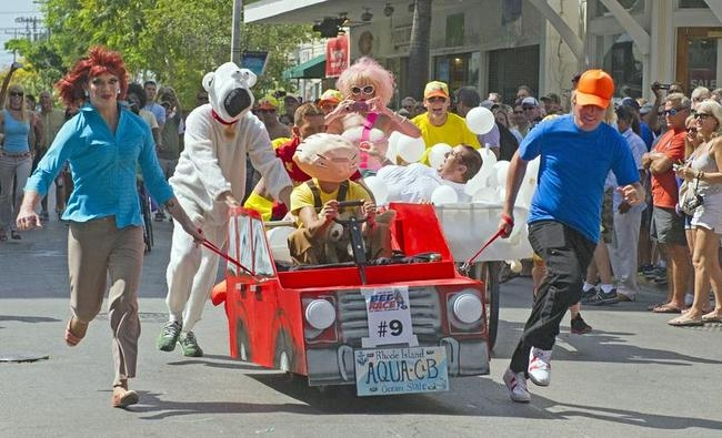 Conch Republic Red Ribbon Bed Race