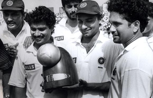 Mohd Azharuddin, Hirwani, Nayan Mongia and Sachin Tendulkar